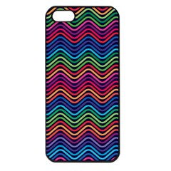 Wave Chevron Rainbow Color Apple Iphone 5 Seamless Case (black)