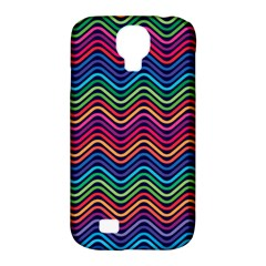 Wave Chevron Rainbow Color Samsung Galaxy S4 Classic Hardshell Case (pc+silicone)