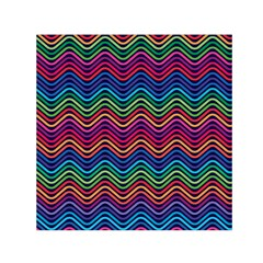 Wave Chevron Rainbow Color Small Satin Scarf (square) by Alisyart