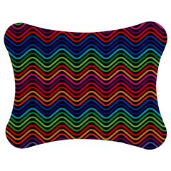 Wave Chevron Rainbow Color Jigsaw Puzzle Photo Stand (bow)