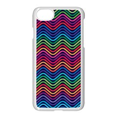 Wave Chevron Rainbow Color Apple Iphone 7 Seamless Case (white)