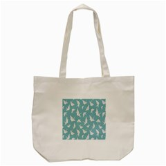 Origamim Paper Bird Blue Fly Tote Bag (cream)