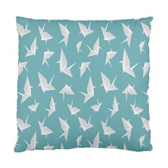 Origamim Paper Bird Blue Fly Standard Cushion Case (two Sides)