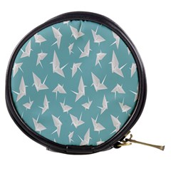 Origamim Paper Bird Blue Fly Mini Makeup Bags by Alisyart