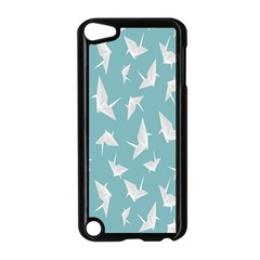 Origamim Paper Bird Blue Fly Apple Ipod Touch 5 Case (black)