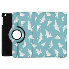 Origamim Paper Bird Blue Fly Apple Ipad Mini Flip 360 Case by Alisyart