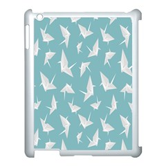 Origamim Paper Bird Blue Fly Apple Ipad 3/4 Case (white)