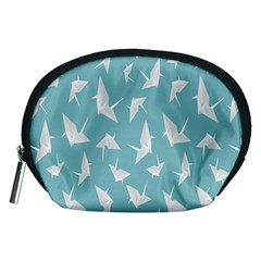 Origamim Paper Bird Blue Fly Accessory Pouches (medium)