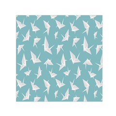 Origamim Paper Bird Blue Fly Small Satin Scarf (square)