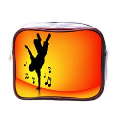Breakdancer Dancing Orange Mini Toiletries Bags by Alisyart
