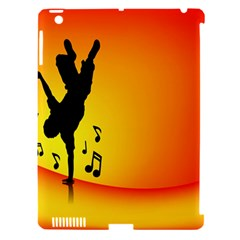 Breakdancer Dancing Orange Apple Ipad 3/4 Hardshell Case (compatible With Smart Cover)