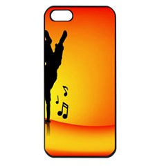 Breakdancer Dancing Orange Apple Iphone 5 Seamless Case (black)