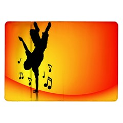 Breakdancer Dancing Orange Samsung Galaxy Tab 10 1  P7500 Flip Case