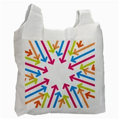 Arrows Pink Blue Orange Green Recycle Bag (one Side)