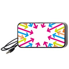 Arrows Pink Blue Orange Green Portable Speaker (black)