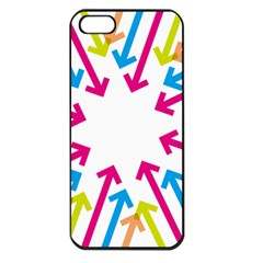 Arrows Pink Blue Orange Green Apple Iphone 5 Seamless Case (black)