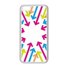 Arrows Pink Blue Orange Green Apple Iphone 5c Seamless Case (white)