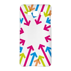 Arrows Pink Blue Orange Green Samsung Galaxy A5 Hardshell Case  by Alisyart