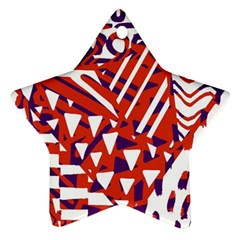 Bright  Memphis Purple Triangle Ornament (star)