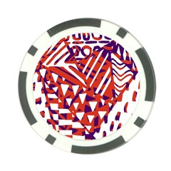 Bright  Memphis Purple Triangle Poker Chip Card Guard (10 Pack)