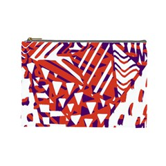 Bright  Memphis Purple Triangle Cosmetic Bag (large)