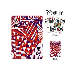 Bright  Memphis Purple Triangle Playing Cards 54 (mini)  by Alisyart