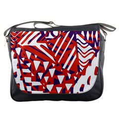 Bright  Memphis Purple Triangle Messenger Bags by Alisyart