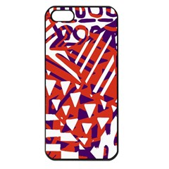 Bright  Memphis Purple Triangle Apple Iphone 5 Seamless Case (black)
