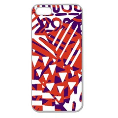 Bright  Memphis Purple Triangle Apple Seamless Iphone 5 Case (clear) by Alisyart