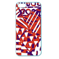 Bright  Memphis Purple Triangle Apple Seamless Iphone 5 Case (color) by Alisyart