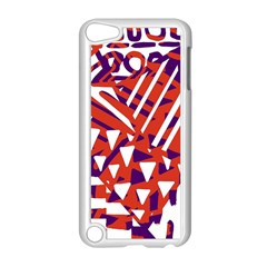 Bright  Memphis Purple Triangle Apple Ipod Touch 5 Case (white)