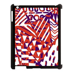 Bright  Memphis Purple Triangle Apple Ipad 3/4 Case (black) by Alisyart