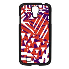 Bright  Memphis Purple Triangle Samsung Galaxy S4 I9500/ I9505 Case (black) by Alisyart