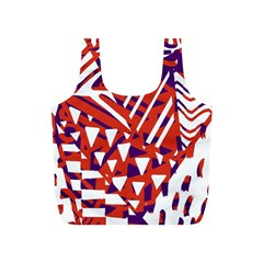 Bright  Memphis Purple Triangle Full Print Recycle Bags (s)  by Alisyart