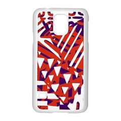 Bright  Memphis Purple Triangle Samsung Galaxy S5 Case (white)
