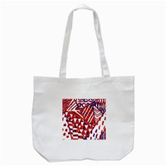 Bright  Memphis Purple Triangle Tote Bag (white) by Alisyart