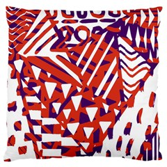 Bright  Memphis Purple Triangle Large Flano Cushion Case (two Sides) by Alisyart