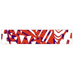 Bright  Memphis Purple Triangle Flano Scarf (small)