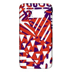 Bright  Memphis Purple Triangle Galaxy S6