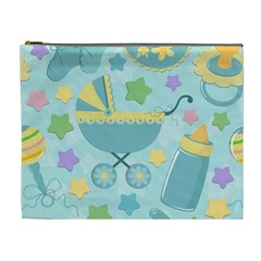 Baby Stroller Star Blue Cosmetic Bag (xl)
