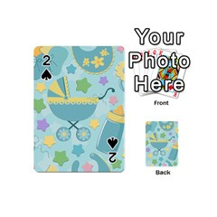 Baby Stroller Star Blue Playing Cards 54 (mini)