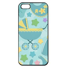 Baby Stroller Star Blue Apple Iphone 5 Seamless Case (black)