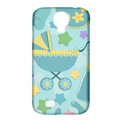 Baby Stroller Star Blue Samsung Galaxy S4 Classic Hardshell Case (pc+silicone)