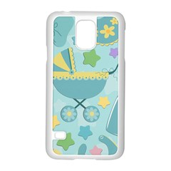 Baby Stroller Star Blue Samsung Galaxy S5 Case (white)