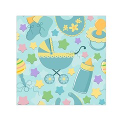 Baby Stroller Star Blue Small Satin Scarf (square) by Alisyart