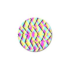 Bright Zig Zag Scribble Yellow Pink Golf Ball Marker (10 Pack) by Alisyart