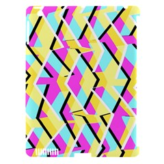 Bright Zig Zag Scribble Yellow Pink Apple Ipad 3/4 Hardshell Case (compatible With Smart Cover) by Alisyart