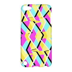 Bright Zig Zag Scribble Yellow Pink Apple Ipod Touch 5 Hardshell Case