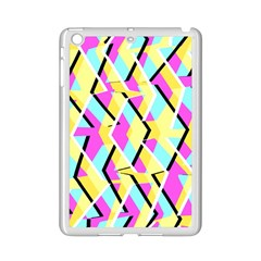 Bright Zig Zag Scribble Yellow Pink Ipad Mini 2 Enamel Coated Cases
