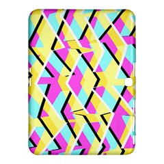 Bright Zig Zag Scribble Yellow Pink Samsung Galaxy Tab 4 (10 1 ) Hardshell Case  by Alisyart